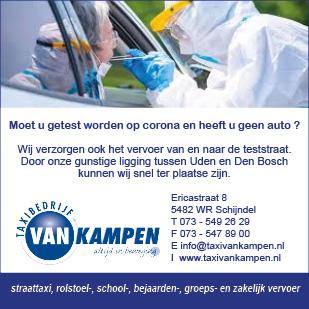 Taxi van Kampen - teststraat vervoer